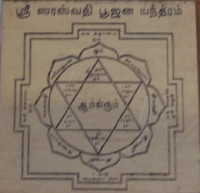 Saraswathi Yantra - Saraswati Yantra - Devi Yantras